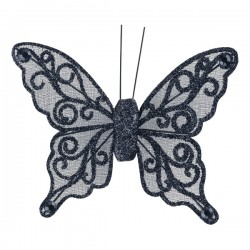 Organza Butterfly with Clip - 8cm