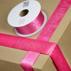 Diamante Happy Birthday Ribbon - 40mm x 10Mt