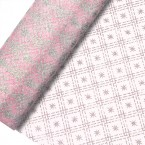 Glitter Diamond/Star Organza Net on a Roll - 29cm x 10mt