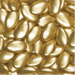 Metallic Gold Sugared Almonds (Whole Almond) - 1 kg box