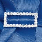 Large Diamante Rectangle Ribbon Buckle