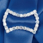 Large Diamante Bow Ribbon Buckle