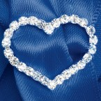 Large Diamante Heart Ribbon Buckle