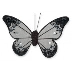 Organza Butterfly with Clip - 10cm