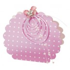 Hot Pink Spotty Round Bag Box