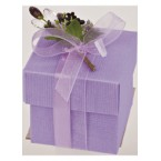Lilac Silk Square Box with Lid