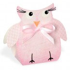 Pink Owl Shaped Box