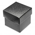 Black Leather Square Box with Lid