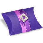 Purple Silk Pillow Box