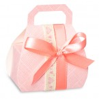 Pink Silk Handbag Box