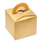 Gold Silk Square Box with Handle